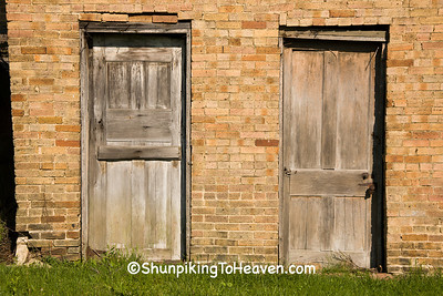 Door on Old Brick Building, Shawnee, Ohio