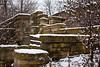 Stone Walls Designed by Frank Lloyd Wright, UW Arboretum, Madison, Wisconsin