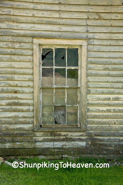 Window on Old Building, Shawnee, Perry County, Ohio