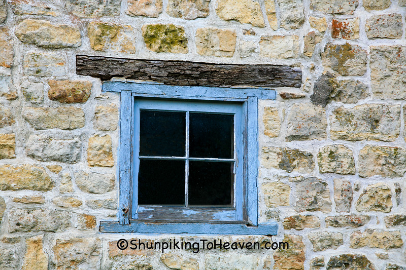 Window of Historic Gehlen Stone Barn, Jackson County, Iowa