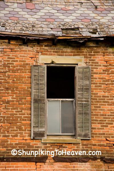 Window of Abandoned Brick House, Highland County, Ohio