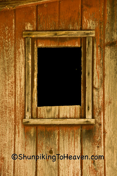 Window of Outhouse, Monroe County, Wisconsin