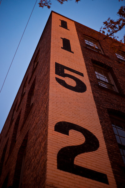 Close-up of an old warehouse in Yaletown.  Sony A900 / Minolta 50mm f/1.7, 0.8sec at f/1.7, ISO 200.