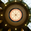 Ceiling detail of a fancy building lobby in Seattle.