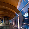 Detail of the ribbed walls and ceiling at Brentwood Town Centre SkyTrain station in Vancouver, BC.  Sony A900 / CZ24-70 at 35mm, 1/10sec at f/2.8, ISO 200.
