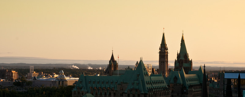 A classic Ottawa skyline.  Sony A900 / CZ24-70 at 55mm, 1/100sec at f/10, ISO 200.