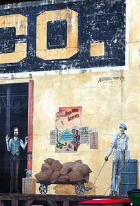 Mural on Sears Building, Astoria Oregon