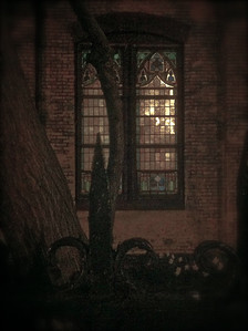 Mt. Zion Lutheran Church window, Convent Avenue, Harlem  iPhone photo