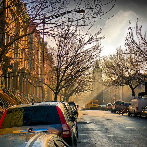 Morning fog on Harlem street