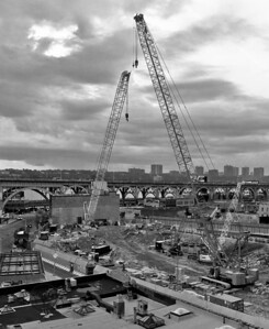 Manhattanville demolition and Riverside Drive Viaduct