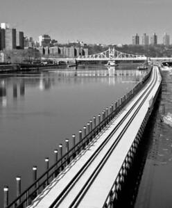 Railroad causeway and Macomb's Dam Bridge, Harlem River