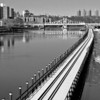 Railroad causeway and Macomb's Dam Bridge, Harlem River