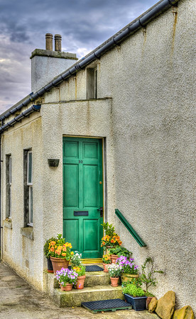 ere is another pretty doorway seen from the main street of Stromness.<br /> <br /> This photo is an HDR image that was made by merging together five varying exposures of this scene.