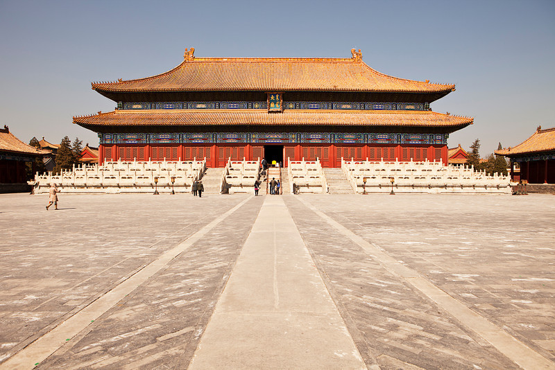 The Taimiao Ancestral Temple in China is now referred to as the People's Cultural Palace. Located near Tianmen Square and the Forbidden City, relics from long-dead emperors are stored in these buildings.