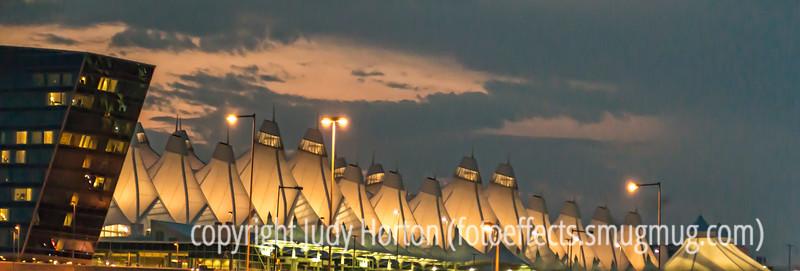 Denver Airport at Night