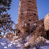 The Desert View Watchtower, designed by famous architect Jane Colter.  Fascinating interior, exterior, and views.
