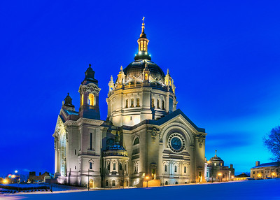 Cathedral of Saint Paul at Twilight, St. Paul MN---Arc4003
