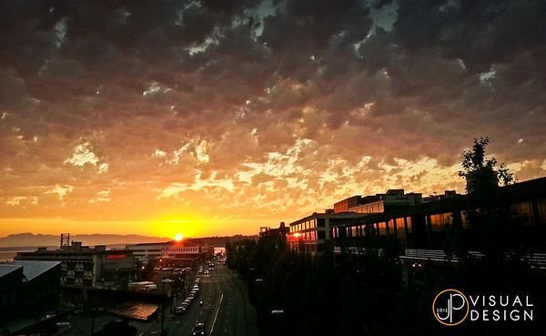 Seattle summer sunset, taken with my Samsung Galaxy SIII of all things. Camera phones are getting impressive.  Minimal post-processing.