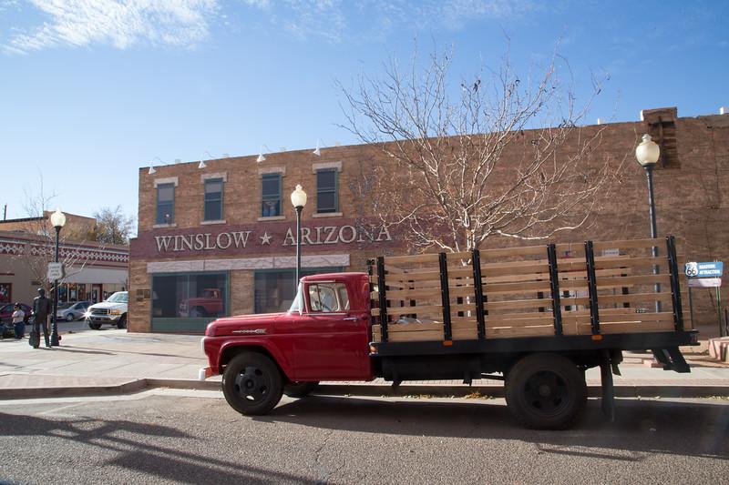 Standing on the Corner in Winslow, AZ