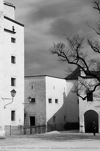 Hohensalzburg Courtyard.  Hohensalzburg Castle, Salzburg, Austria.