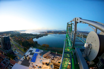 View from the crane at Nishi during construction