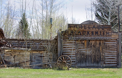 a blacksmith's shop at historic old Fort Bridger, Wyoming
