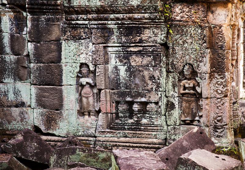Two Carvings At Preah Khan