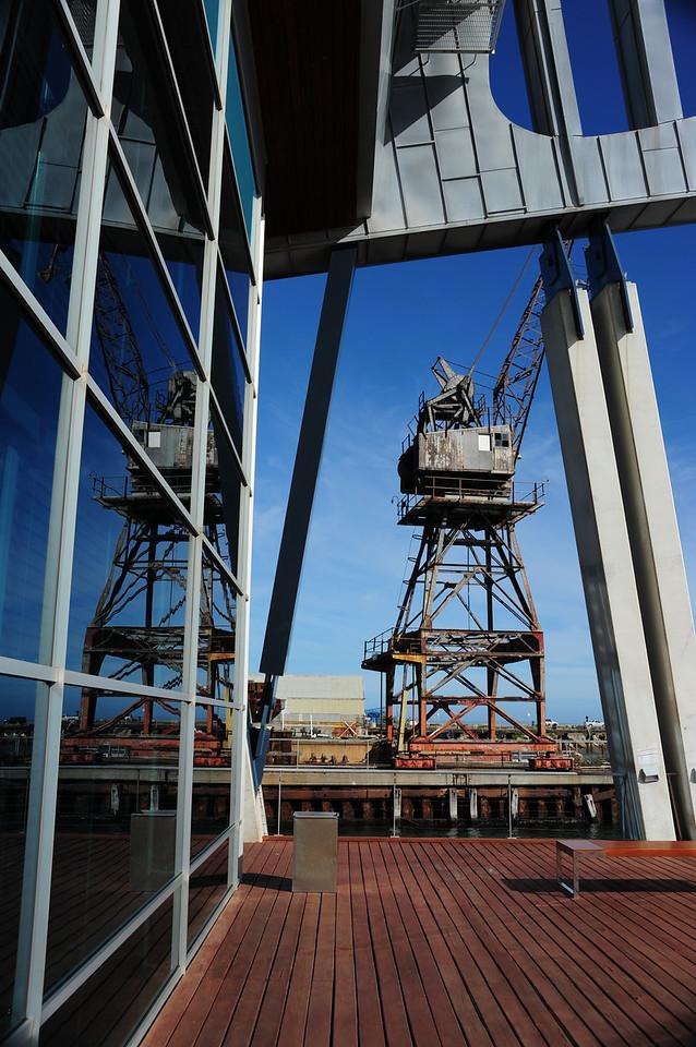 Old crane, Maritime Museum, Fremantle, Western Australia