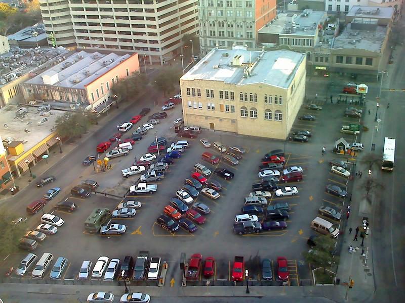 Parking Lot <br /> Behind Hard Rock Cafe. Taken with Motorola Rizr.