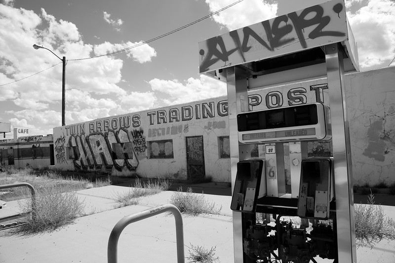 Gas Station at Twin Arrows, AZ