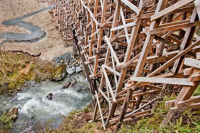 Kinsol Tressle, New Tressle Bridge, Vancouver Island, Wooden Structure, Wooden Tressle