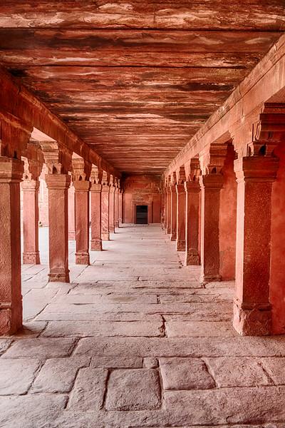 Red Sandstone Corridor In Fatehpur