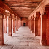 Red Sandstone Corridor In Fatehpur