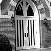 Church door, Franklin, Ind.