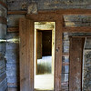 Looking through the doorways in the Bud Ogle house, Roaring Fork Motor Nature Trail, Great Smoky Mountains.