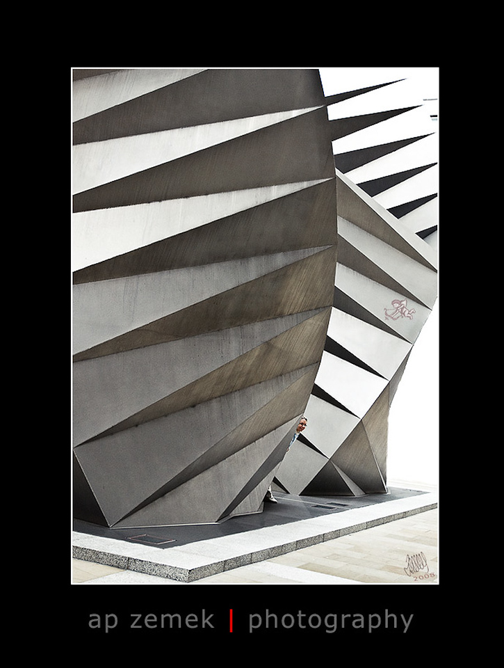 Modern sculpture near St. Paul's Cathedral, London, UK