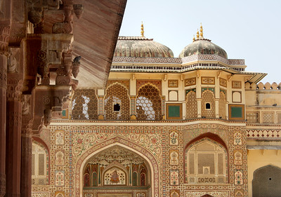 an extremely ornate old palace in India
