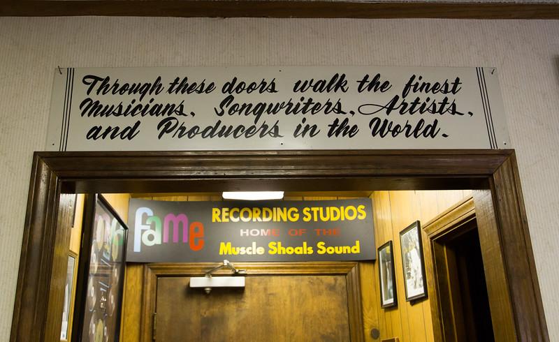 FAME Recording Studio, Muscle Shoals, AL