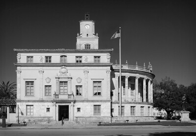 Gables City Hall BW