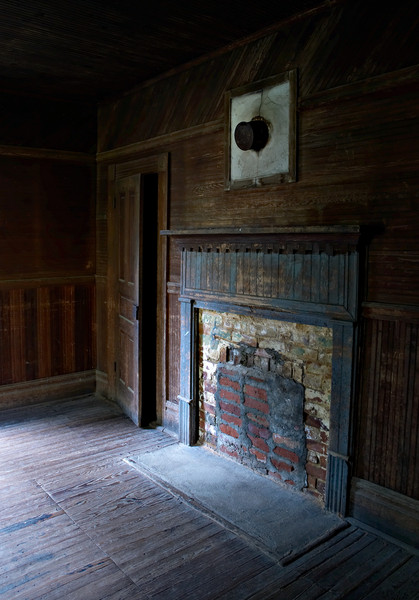 The fireplace in the Caldwell House, Cataloochee, Great Smoky Mountains.
