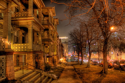 Looking down Main Street in Downtown Salt Lake City towards Temple Square