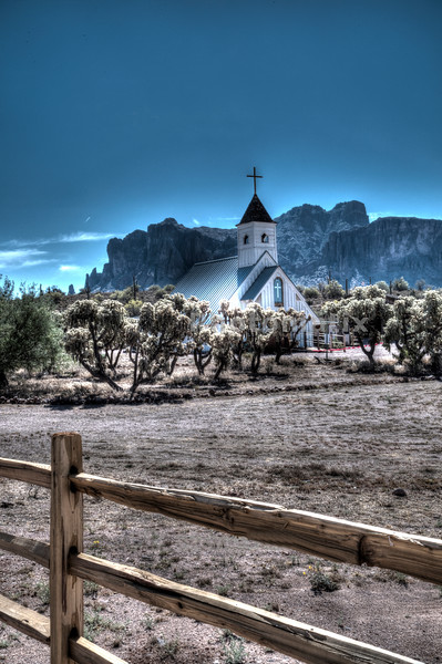 Church near the Superstition Mountains