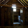 """The Loft""  The upper room in one of the old structures in Cades Cove, Great Smoky Mountains."