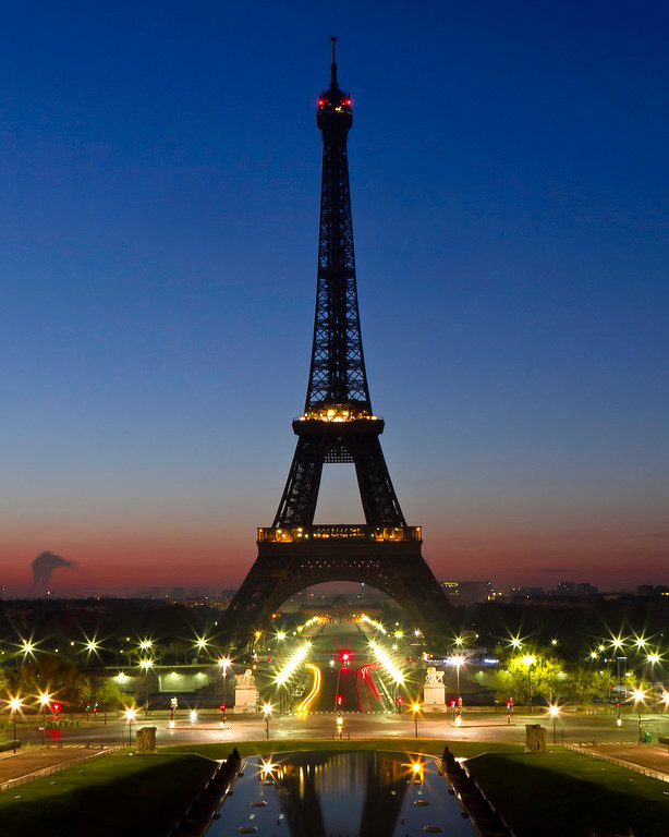 The Eiffel Tower in Tricolour