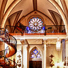 Inside the Loretto Chapel in Santa Fe, New Mexico.