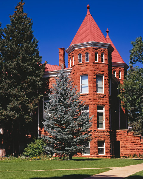 A famous old building on the North end of the Northern Arizona University campus in Flagstaff, AZ.  The school started out as a teacher's college in the late 1800s.  This building spend most of its life as a dorm but is now an art gallery for the school.