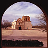 Tumacacori Mission was established in 1691 by jesuit father Eusibio Francisco Kino.  It is 12 miles North of the Arizona/Mexico border.