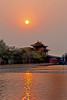 Sunset on the moat of the Summer Palace, China