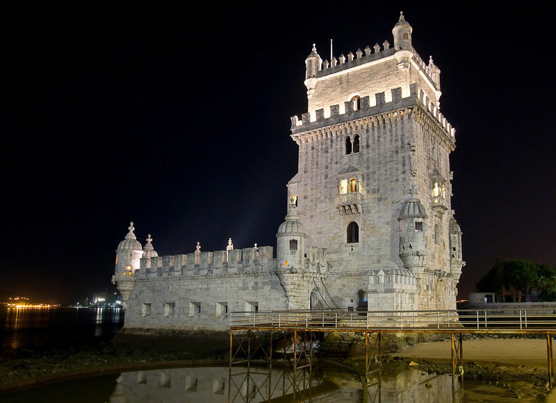 Belem Tower, or Tower of St. Vincent, was the starting point for many voyages of discovery. Built in 1515 as a fortress to guard Lisbon's harbor, it is a symbol of Portugal and the Age of Discovery, and is a UNESCO World Heritage monument.