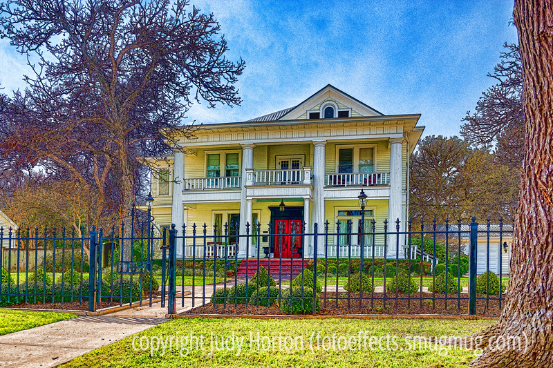House in Bastrop, TX; processed with Nik's Color EFEX and then Topaz Simplify